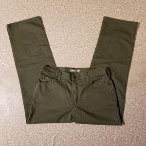 Lee 10 short straight leg army / camo green jeans